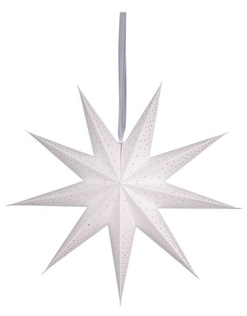 Julstjärna Minimalist, Längd 75 cm, Vit