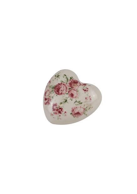 Dekoration hjärta Ingrid, Höjd 4.5 cm, Rosa