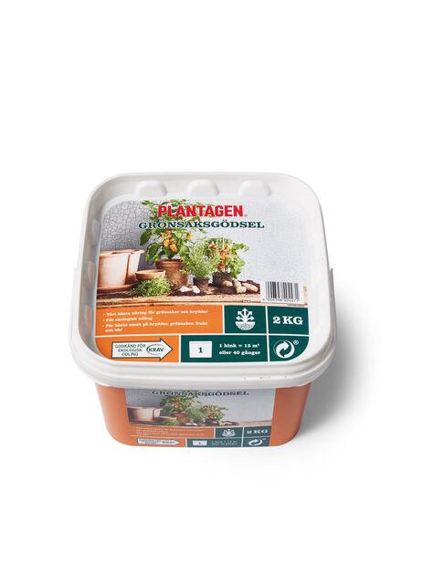 Plantagen Grönsaksgödsel KRAV, 2 kg, Flerfärgad