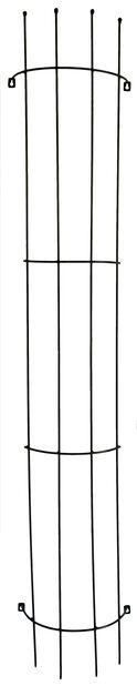 Spaljé för vägg, Höjd 180 cm, Svart