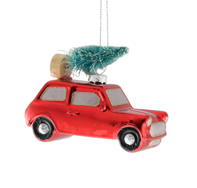 Julgranspynt Bil, Höjd 4 cm, Röd