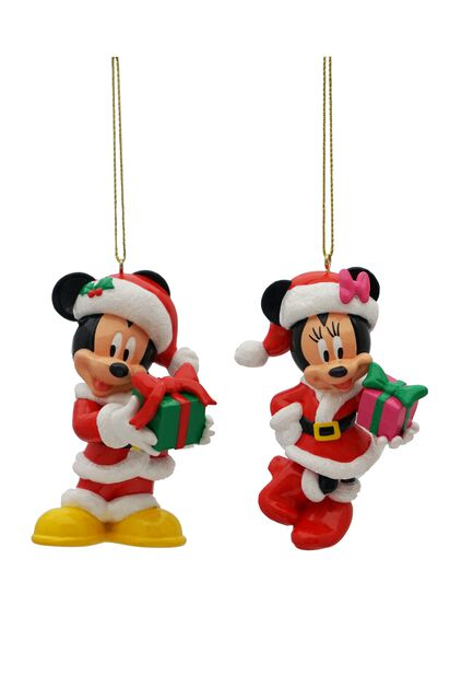 Julgranspynt Disneyfigurer Musse & Mimmi, Höjd 9 cm, Flerfärgad