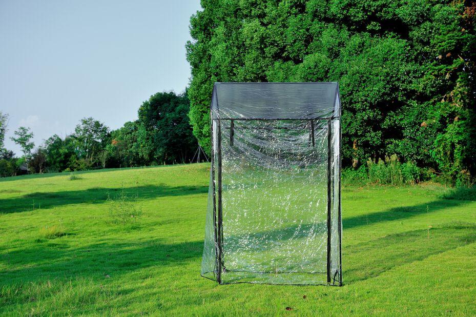Växthus till pallkrage, Längd 120 cm, Transparent