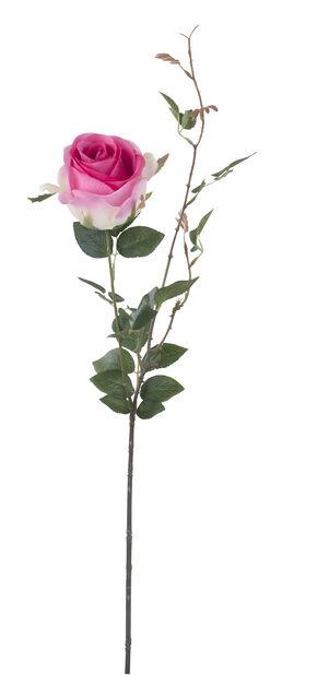 Ros med kvist konstgjord, Höjd 56 cm, Rosa