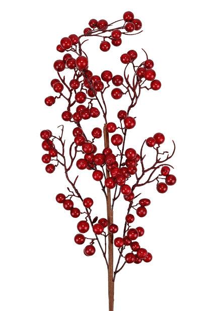 Kvist med röda bär konstgjord, Höjd 71 cm, Röd
