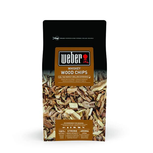 Rökflis Weber Wood chips Whisky, 700 g, Svart