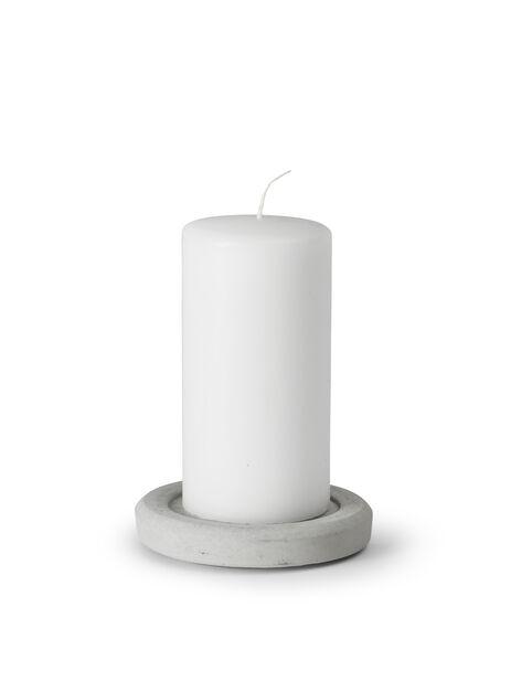 Blockljushållare, Ø12 cm, Grå