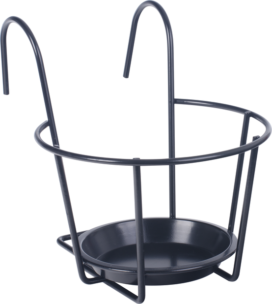 Balkonglåda hållare  , Ø24 cm, Svart