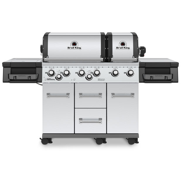 Gasolgrill Broil King Imperial XLS SS, Längd 125 cm, Silver
