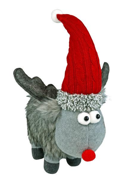 Tomten Rudolf, Höjd 20 cm, Grå