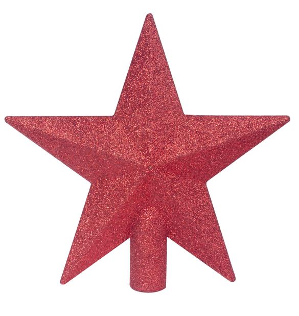 Toppstjärna Glitter, Ø20 cm, Grå