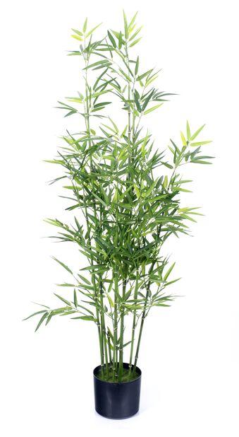 Bambu i kruka konstgjord, Höjd 122 cm, Grön