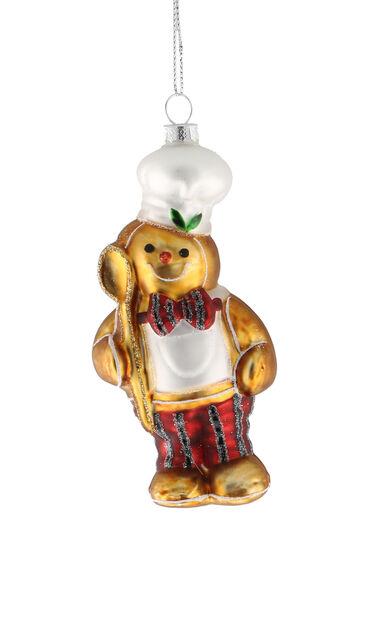 Julgranspynt Björn, Höjd 12 cm, Guld
