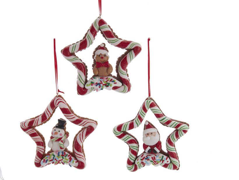 Julgranspynt julgodis stjärna, Höjd 10 cm, Flerfärgad