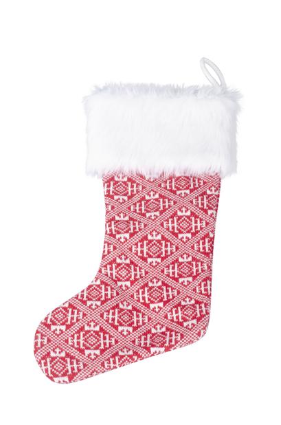 Julstrumpa, Höjd 45 cm, Röd