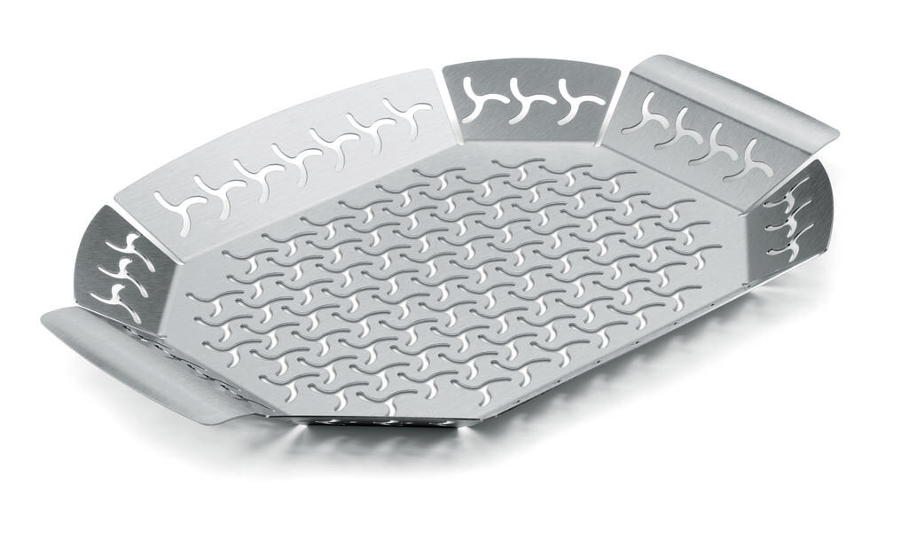 Stainless Steel Grill Pan Large, L, Silver