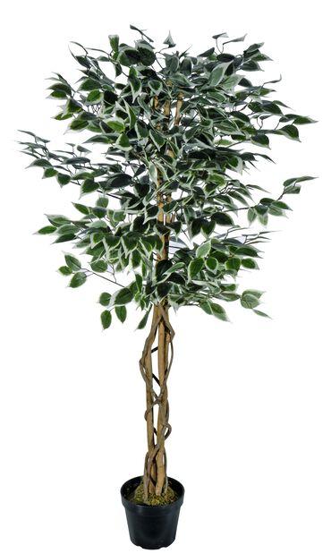 Fikusträd konstgjord, Höjd 140 cm, Silver