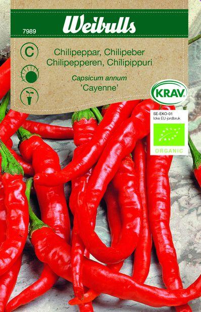 Chili 'Cayenne' KRAV