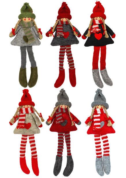 Julpynt docka, Höjd 23 cm, Flera färger