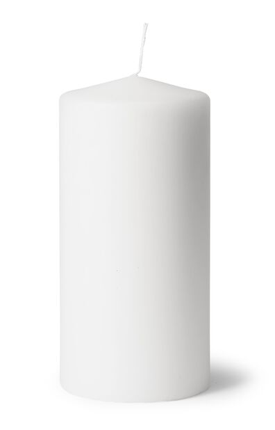 Blockljus, Höjd 20 cm, Vit