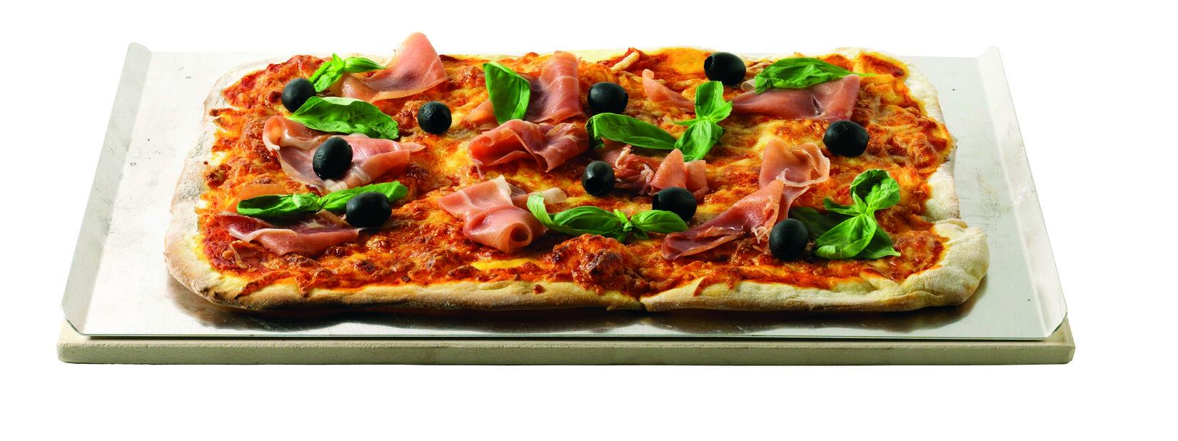 Pizzasten fyrkantig med alu plåt