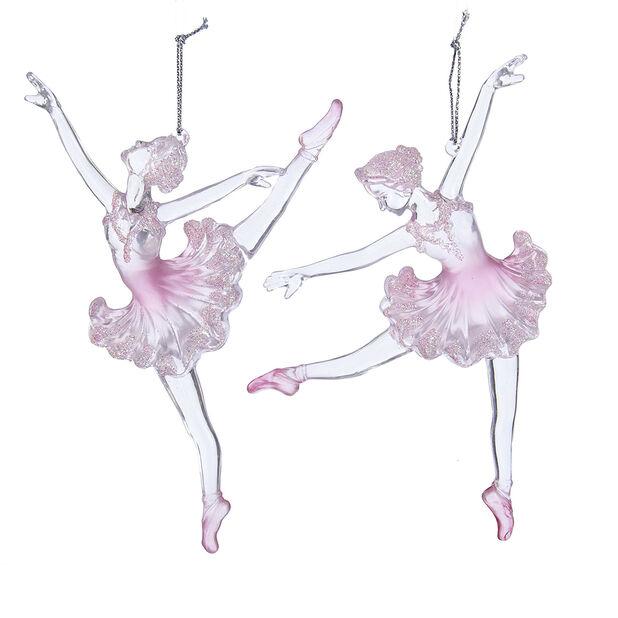 Julpynt ballerina, Höjd 16 cm, Rosa