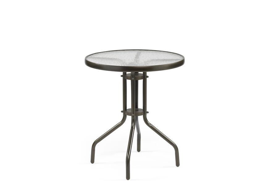 Cafébord Chester, Ø60 cm, Brun