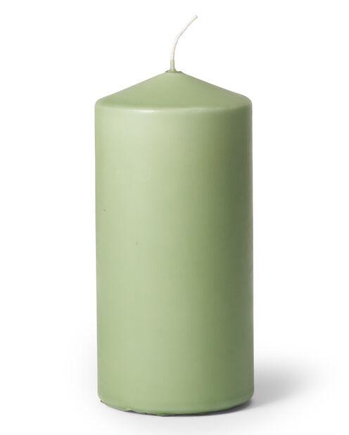 Blockljus, Höjd 14 cm, Grön