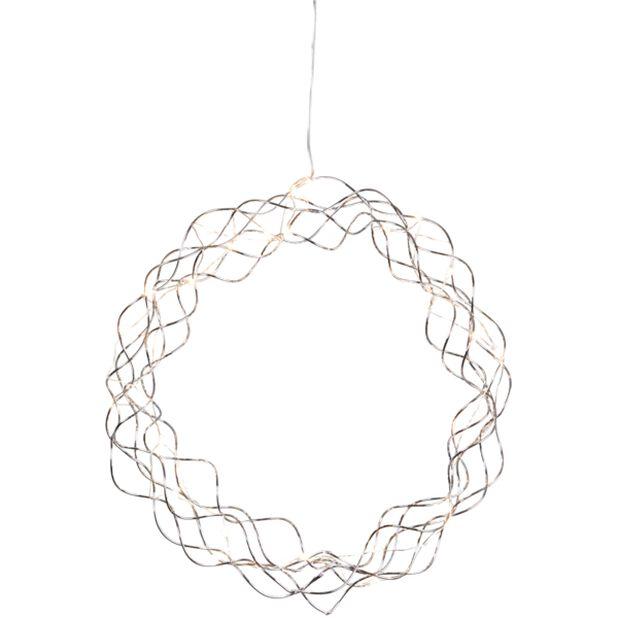 Julbelysning dekorationskrans Curly, Silver