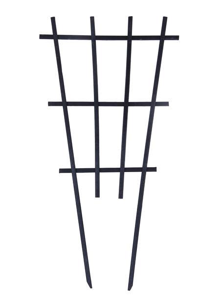 Spaljé för kruka, Höjd 55 cm, Svart