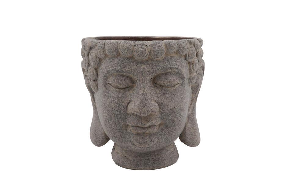Buddha kruka, Ø14 cm, Grå