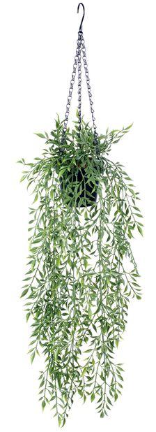 Bambu i ampel konstgjord, Höjd 72 cm, Grön