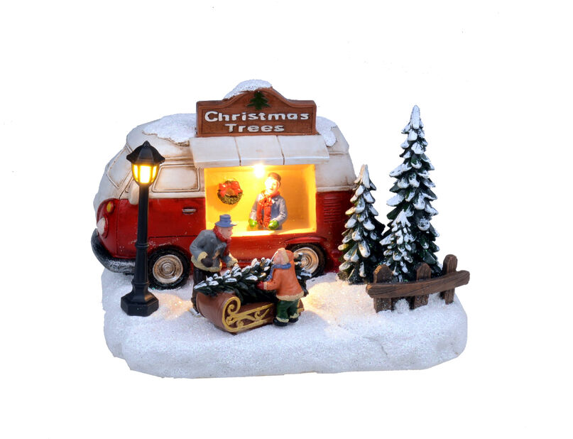 Jultomte på pinne, Höjd 14 cm, Flerfärgad
