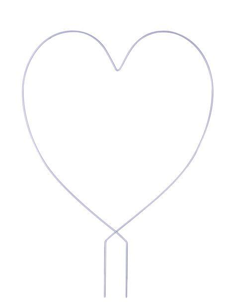 Spaljé hjärta, Höjd 38 cm, Grå