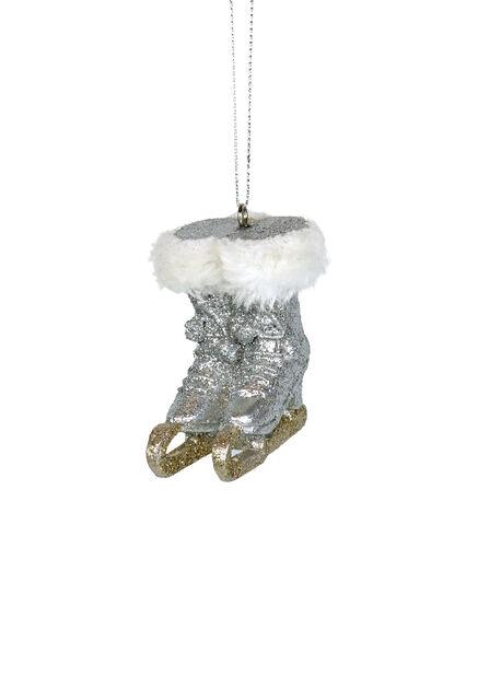 Julgranspynt Skridskor, Höjd 7 cm, Silver