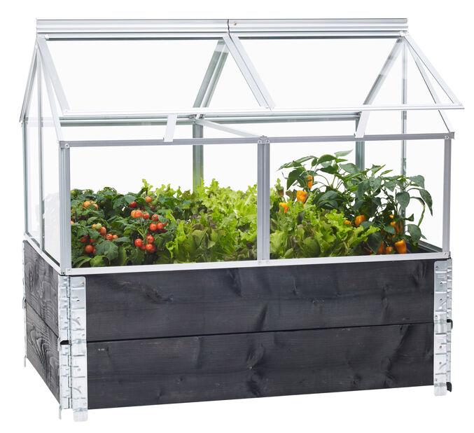 Pallkrage Gaia växthus, Silver