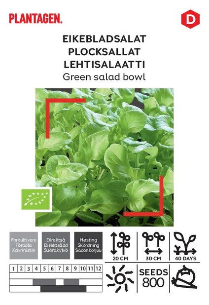 Plocksallat 'Green salad bowl'