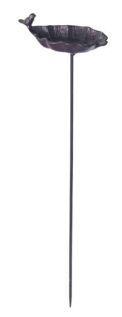 Fågelbad på pinne, Längd 85 cm, Rost