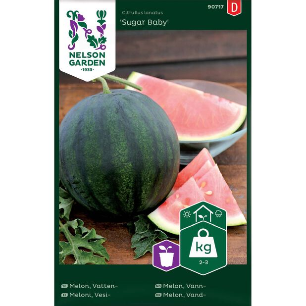 Vattenmelon 'Sugar Baby', Flerfärgad