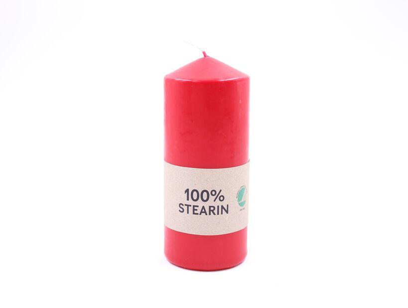 Blockljus, Höjd 14 cm, Röd