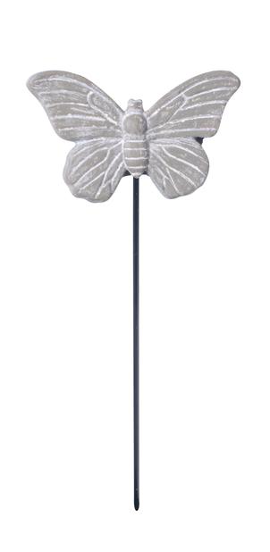 Dekorationspinne fjäril, Längd 12 cm, Grå
