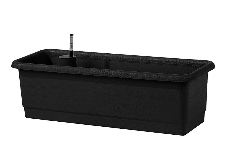 Balkonglåda Epoque med bevattningssystem , Längd 80 cm, Svart