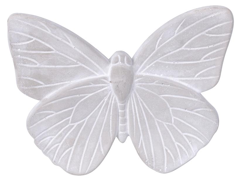 Dekorationsfjäril, Längd 25 cm, Grå
