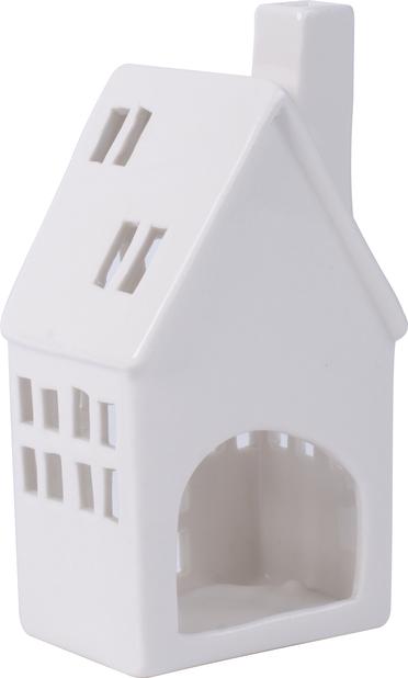 Värmeljushållare Hus, Höjd 12 cm, Vit