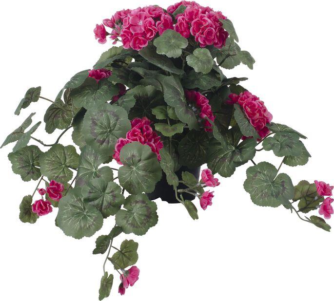 Pelargon konstgjord, Höjd 40 cm, Rosa