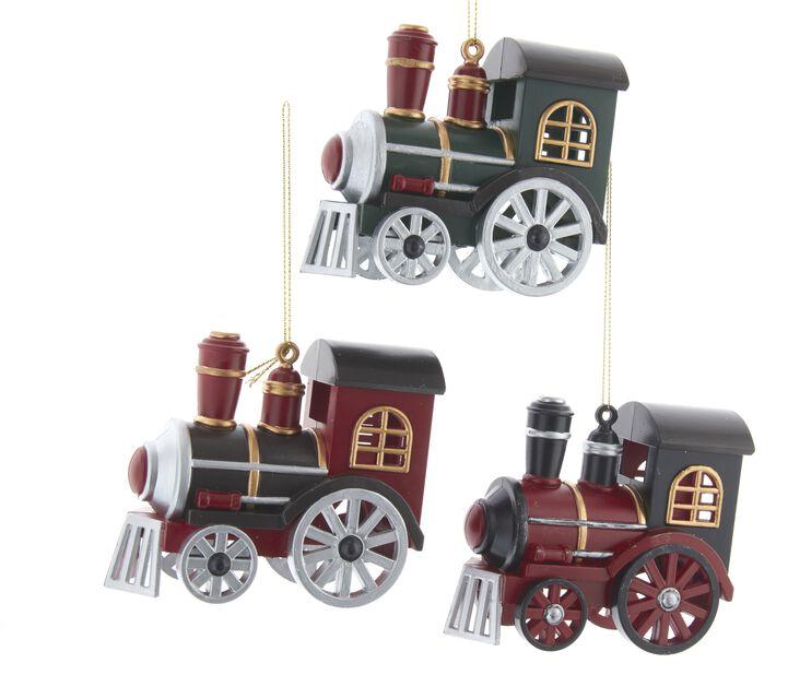 Julgranspynt Locomotiv, Höjd 8 cm, Flerfärgad