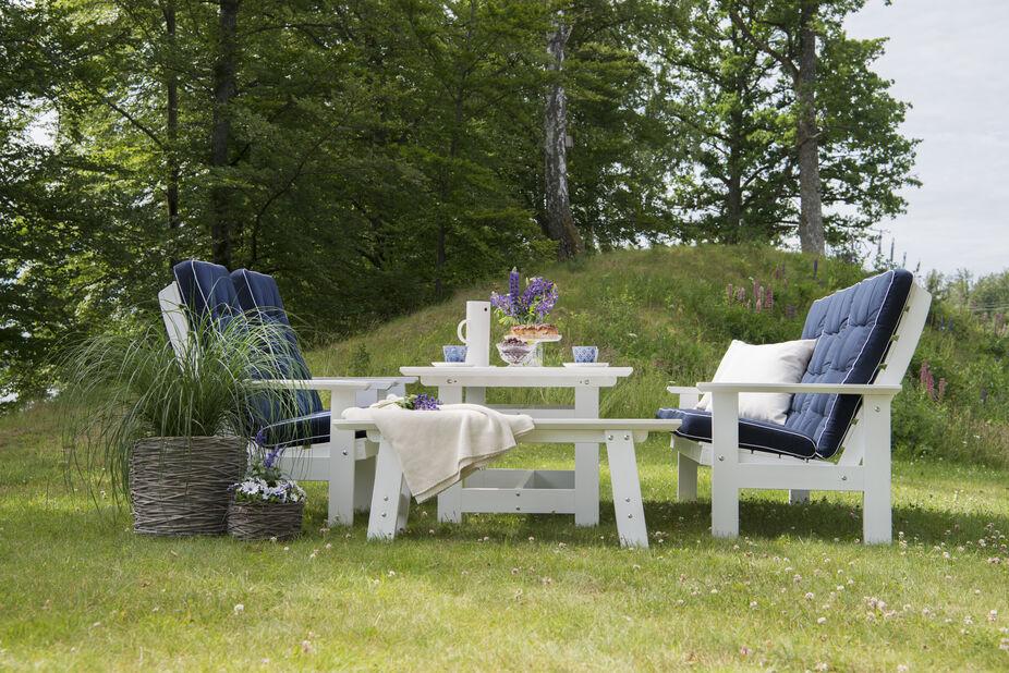 Loungegrupp Herrgård, 4 sittplatser, Vit