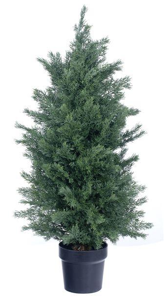 Cypress konstgjord, Höjd 90 cm, Grön