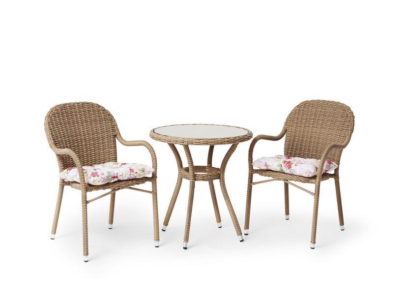 Caféset Lotus, Ø70 cm, Beige