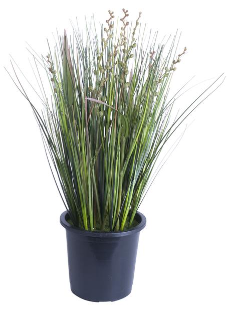 Gräs i kruka H36 cm, grön, konstgjord